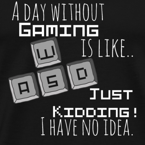 Gamer Gaming WASD Games Zocken Zocker Spiele - Männer Premium T-Shirt