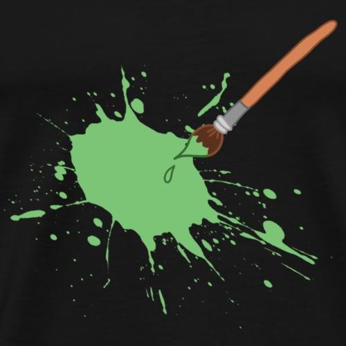 Künstler Kunst Pinsel Farben Comic Cartoon - Männer Premium T-Shirt