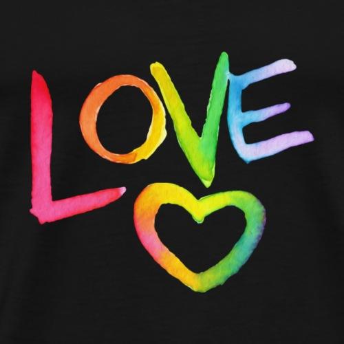 Rainbow Love - Männer Premium T-Shirt