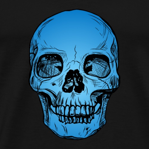 Skull blau - Männer Premium T-Shirt