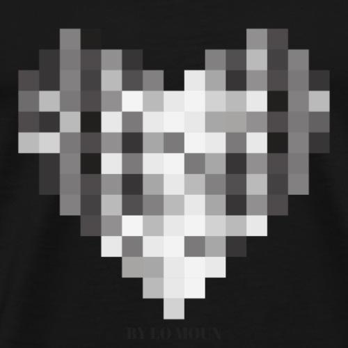 COEUR PIXEL - T-shirt Premium Homme