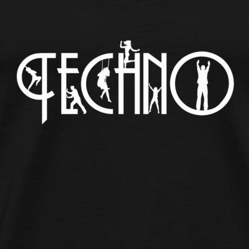 Techno Schriftzug - Männer Premium T-Shirt
