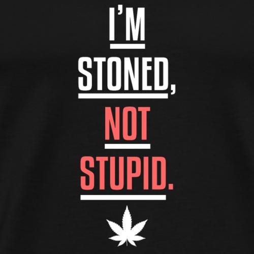 Ich bin stoned nicht blöd - Männer Premium T-Shirt