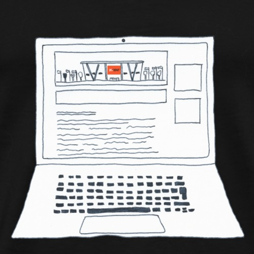 Laptop 20CENT Retail - T-shirt Premium Homme