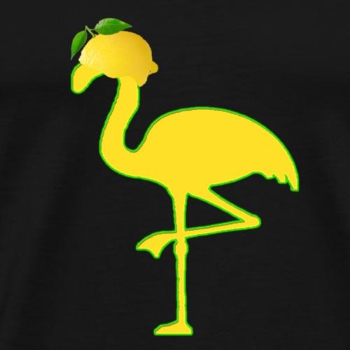 Lemon Flamingo Neon - Männer Premium T-Shirt