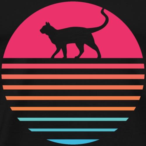 Cat Sun - Männer Premium T-Shirt