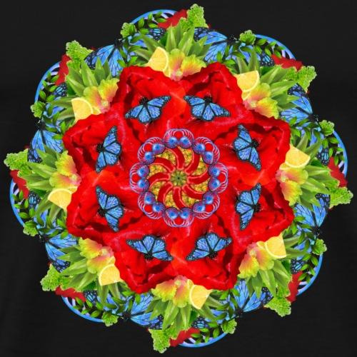 poppy field mandala - Men's Premium T-Shirt