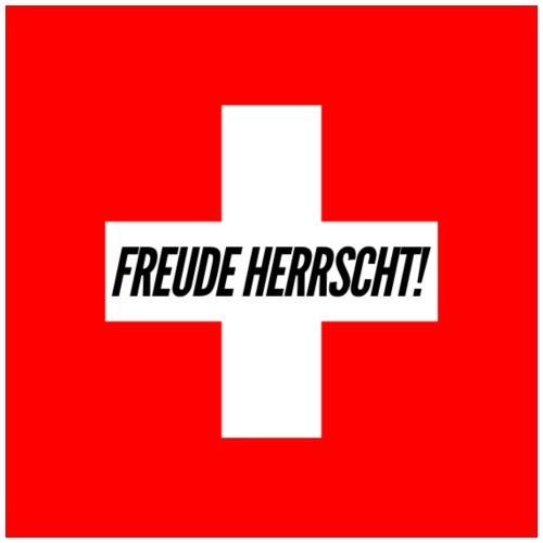 Schweizerkreuz Freude Herrscht - Männer Premium T-Shirt