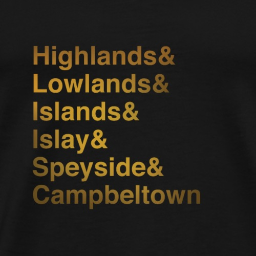 Whisky Regions - Men's Premium T-Shirt