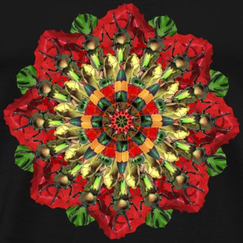 bugs on poppies mandala - Men's Premium T-Shirt