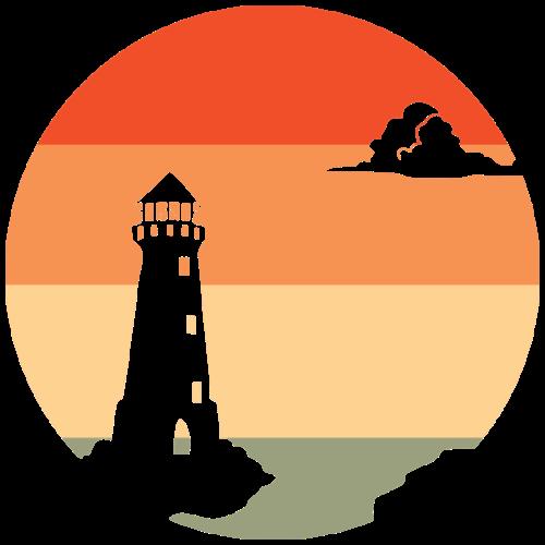 Sonnenuntergang   Leuchtturm Dämmerung - Männer Premium T-Shirt