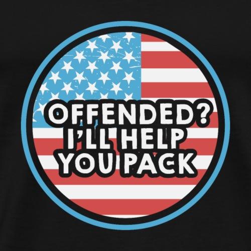 Lustig politisch amerikanisch antiliberal - Männer Premium T-Shirt