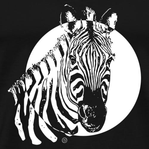 Zebra – Black & White well combined - Männer Premium T-Shirt