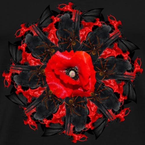 black red creepy mandala - Men's Premium T-Shirt