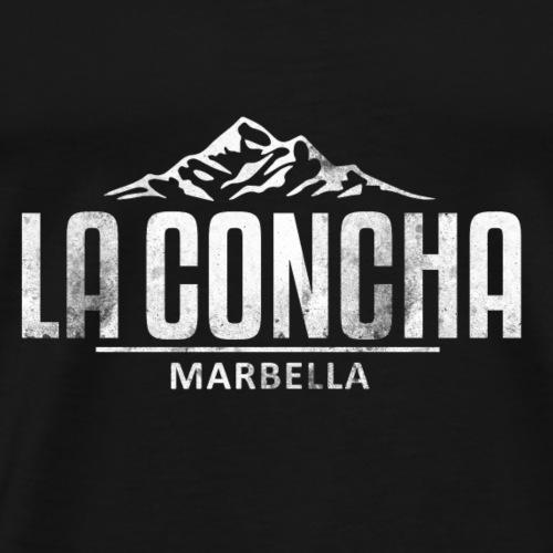 La Concha Vintage White for Marbella - Men's Premium T-Shirt