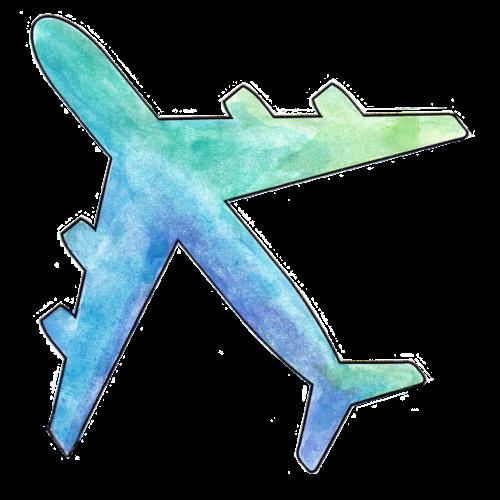 Flugzeug Wasserfarben - Männer Premium T-Shirt