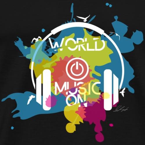 world off music on hell - Männer Premium T-Shirt
