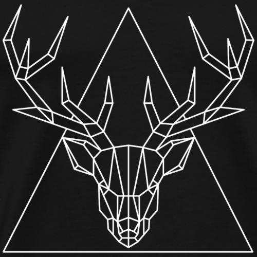 Hirsch Geometrisch - Männer Premium T-Shirt