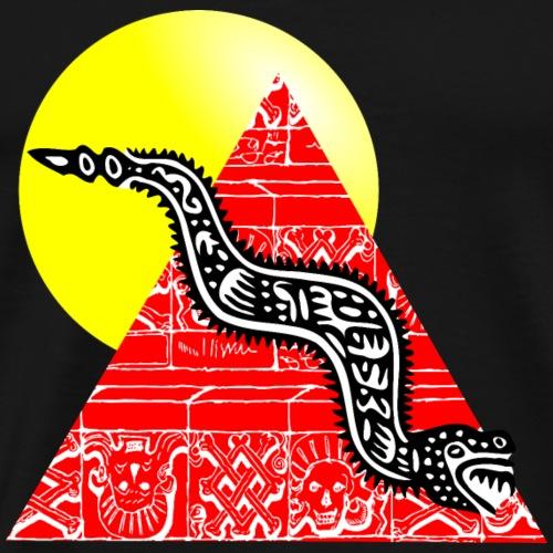 serpent et pyramide sous le soleil - T-shirt Premium Homme