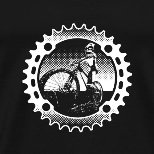 Downhill Biker (dunkler Hintergrund) - Männer Premium T-Shirt