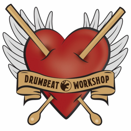 Drum Beat Worshop Love - Premium-T-shirt herr