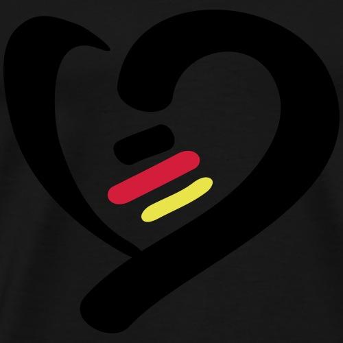 Herz Deutschland - Männer Premium T-Shirt