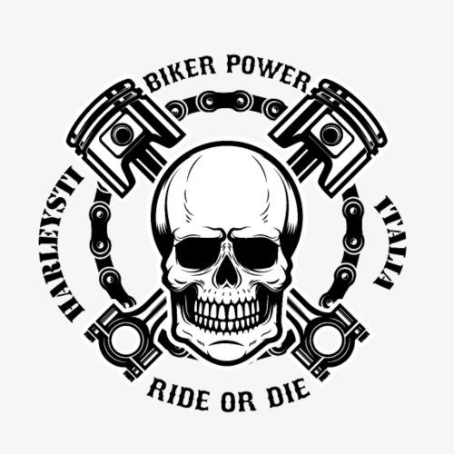 Teschio pistoni maglia bikers - Maglietta Premium da uomo