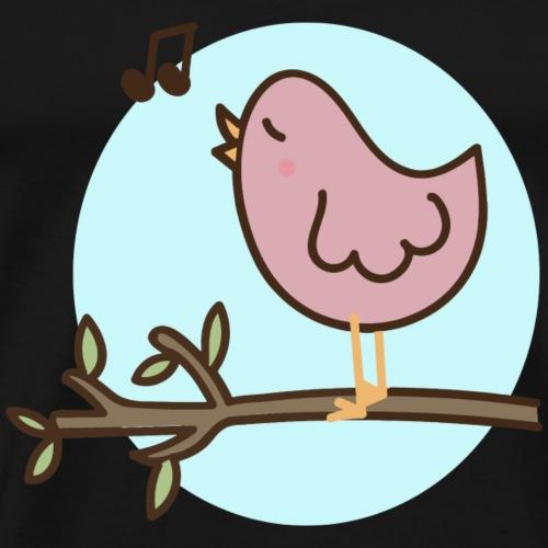 Singender Vogel - Männer Premium T-Shirt