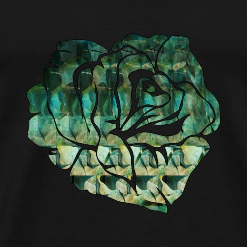 rosa_verde-png - Maglietta Premium da uomo