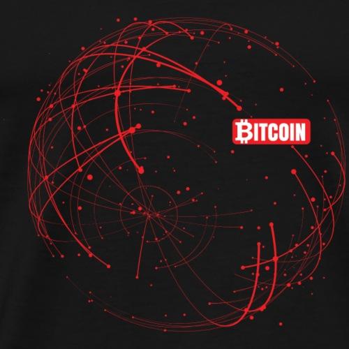 Bitcoin Blockchain Rot - Männer Premium T-Shirt