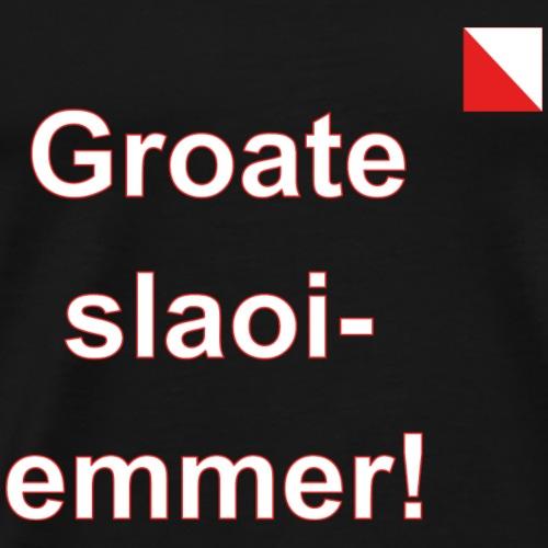 Groate slaoi emmer verti def w - Mannen Premium T-shirt
