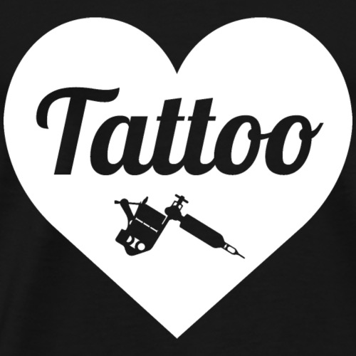 Tattoo love blanc - T-shirt Premium Homme