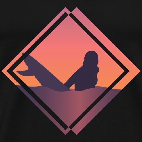 Surferin wartet auf Welle - Männer Premium T-Shirt