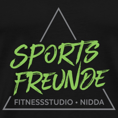 Sportsfreunde_grau_grün - Männer Premium T-Shirt