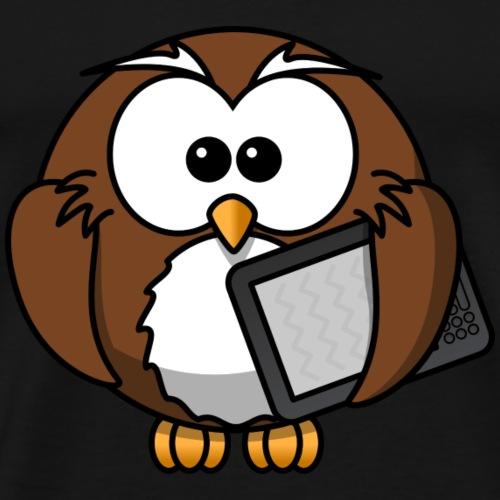 Professor owl - Männer Premium T-Shirt