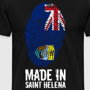 Made In Saint Helena / St. Helena - Premium T-skjorte for menn