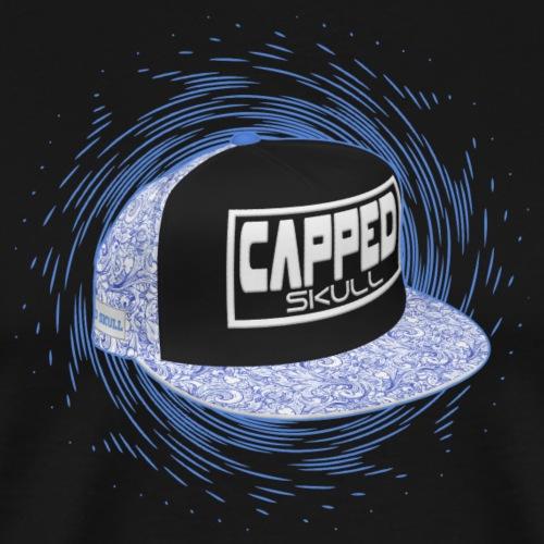 Capped Skull Blue - T-shirt Premium Homme