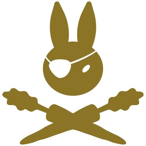 Bunny Pirate with Carrots - Männer Premium T-Shirt