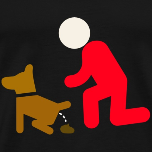 dog and man - Men's Premium T-Shirt