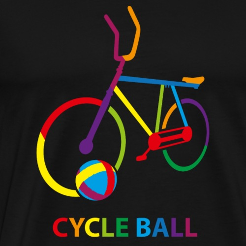 Radball | Cycle Ball Rainbow - Männer Premium T-Shirt