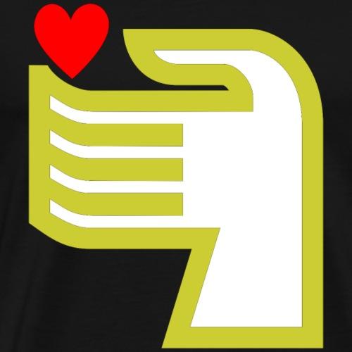 Hand und Herz - Männer Premium T-Shirt