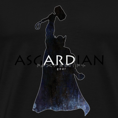 Asgardian Thor (schwarz) - Männer Premium T-Shirt