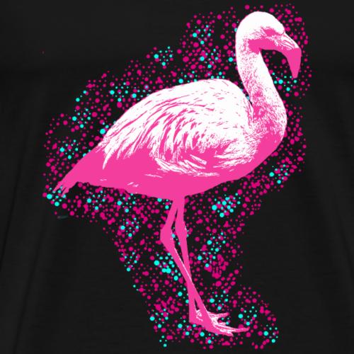 Flamingo mit Konfetti - Männer Premium T-Shirt