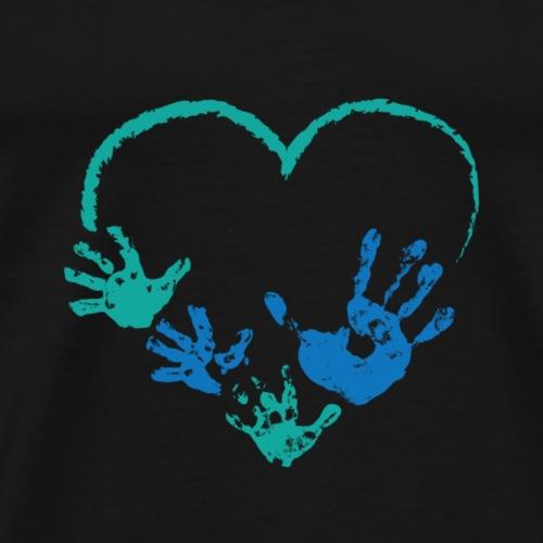 PNDDaddies hearts and hands - Men's Premium T-Shirt