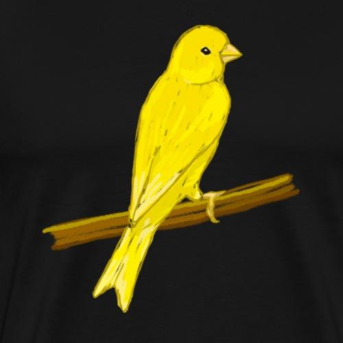 Kanarienvogel - Vogel / gelb - Männer Premium T-Shirt