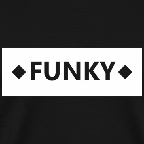 FunkyBlockWhite - Männer Premium T-Shirt