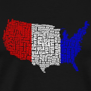 USA Country / Flag - Premium-T-shirt herr