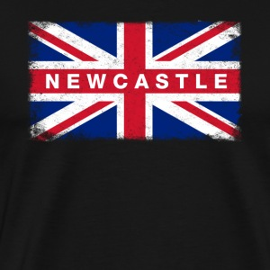 New Castle Shirt Vintage United Kingdom Flag - Men's Premium T-Shirt