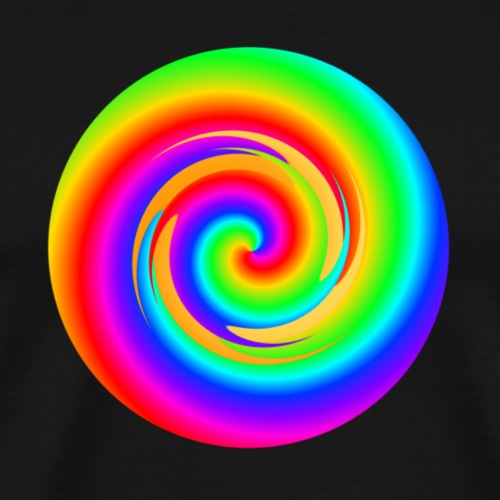 Regenbogen Spirale - Männer Premium T-Shirt