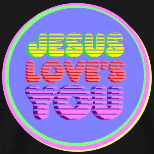 Jesus loves you - Männer Premium T-Shirt